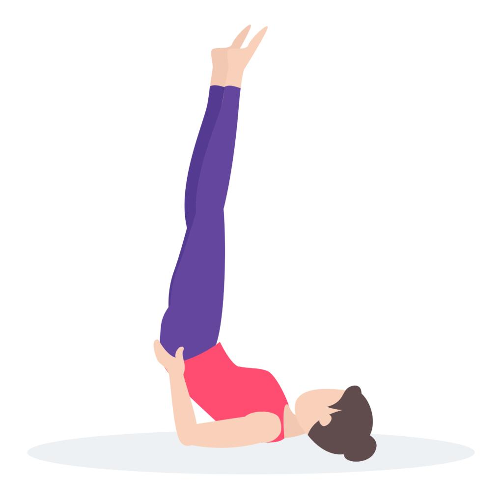 Shoulder Stand Yoga Pose