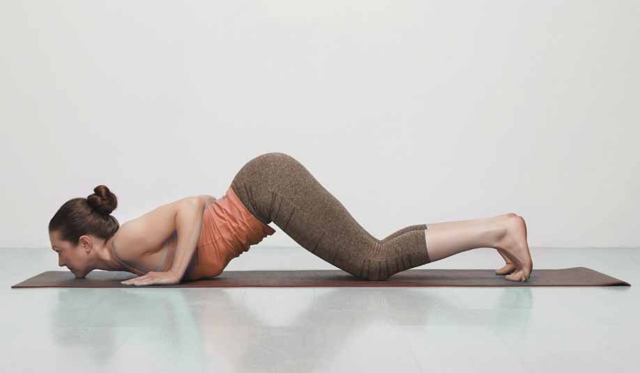 Knees, chest and chin pose