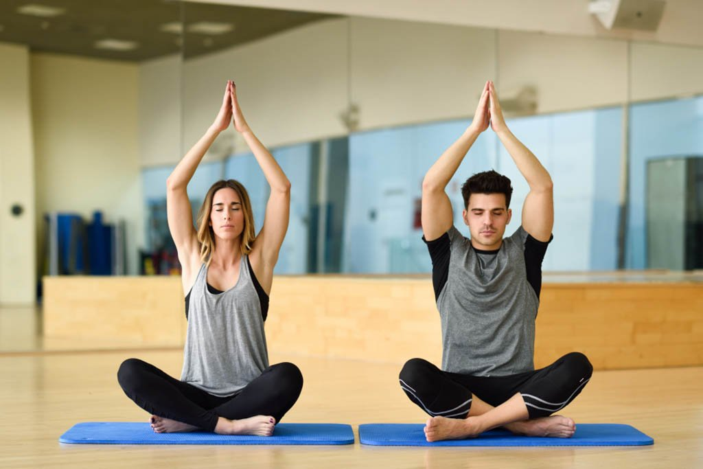 yoga poses with 2 friends
