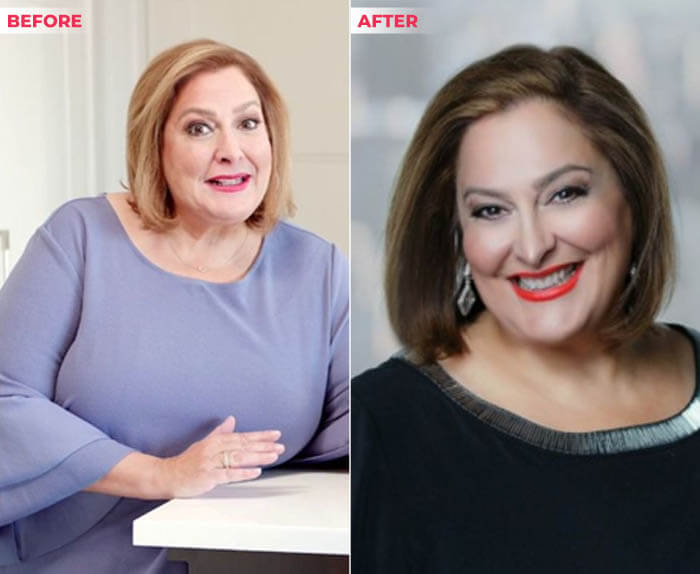 Laura Geller Before and After weight loss